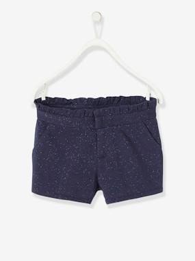 Girls-Shorts-Iridescent Fleece Shorts for Girls