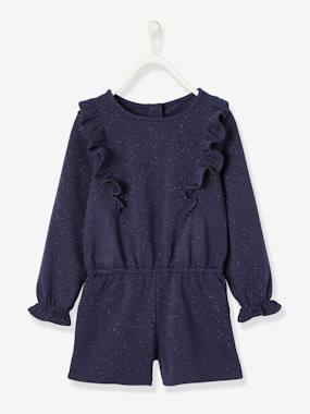 Festive favourite-Iridescent Playsuit with Ruffled Shoulders for Girls