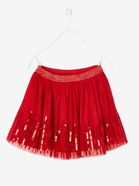 Girls-Skirt in Sequinned Tulle for Girls