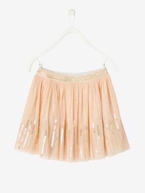 Vertbaudet Collection-Girls-Skirts-Skirt in Sequinned Tulle for Girls