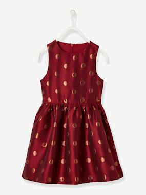 Festive favourite-Occasion Dress with Iridescent Polka Dots, for Girls