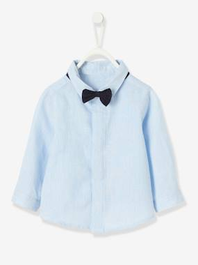 Baby-Blouses & Shirts-Shirt with Bow-tie, for Baby Boys