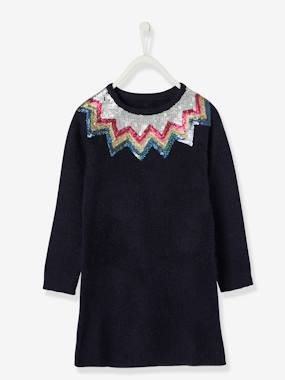 Festive favourite-Dress with Sequinned Motif, for Girls