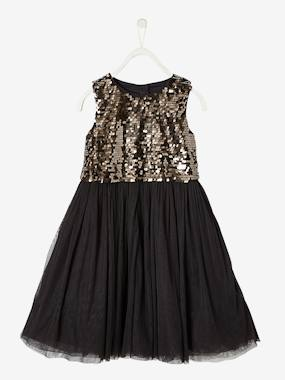 Collection Vertbaudet-Robe de fête 2 en 1 fille top en sequins + robe longue
