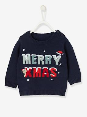 Baby-Jumpers, Cardigans & Sweaters-Christmas Special Jumper for Boys, Merry Christmas