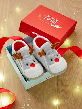 Shoes-Zipped Slippers for Baby Boys
