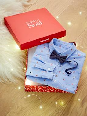 Christmas collection-Boys-Christmas Special Shirt with Bow-tie, for Boys