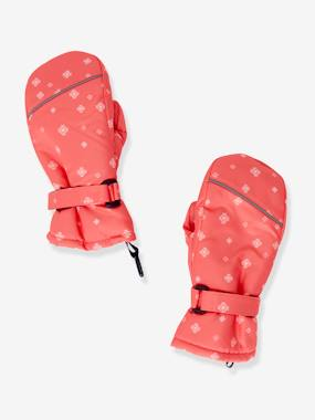 Girls-Accessories-Winter Hats, Scarves, Gloves & Mittens-Ski Gloves with Snowflake Motif, for Girls