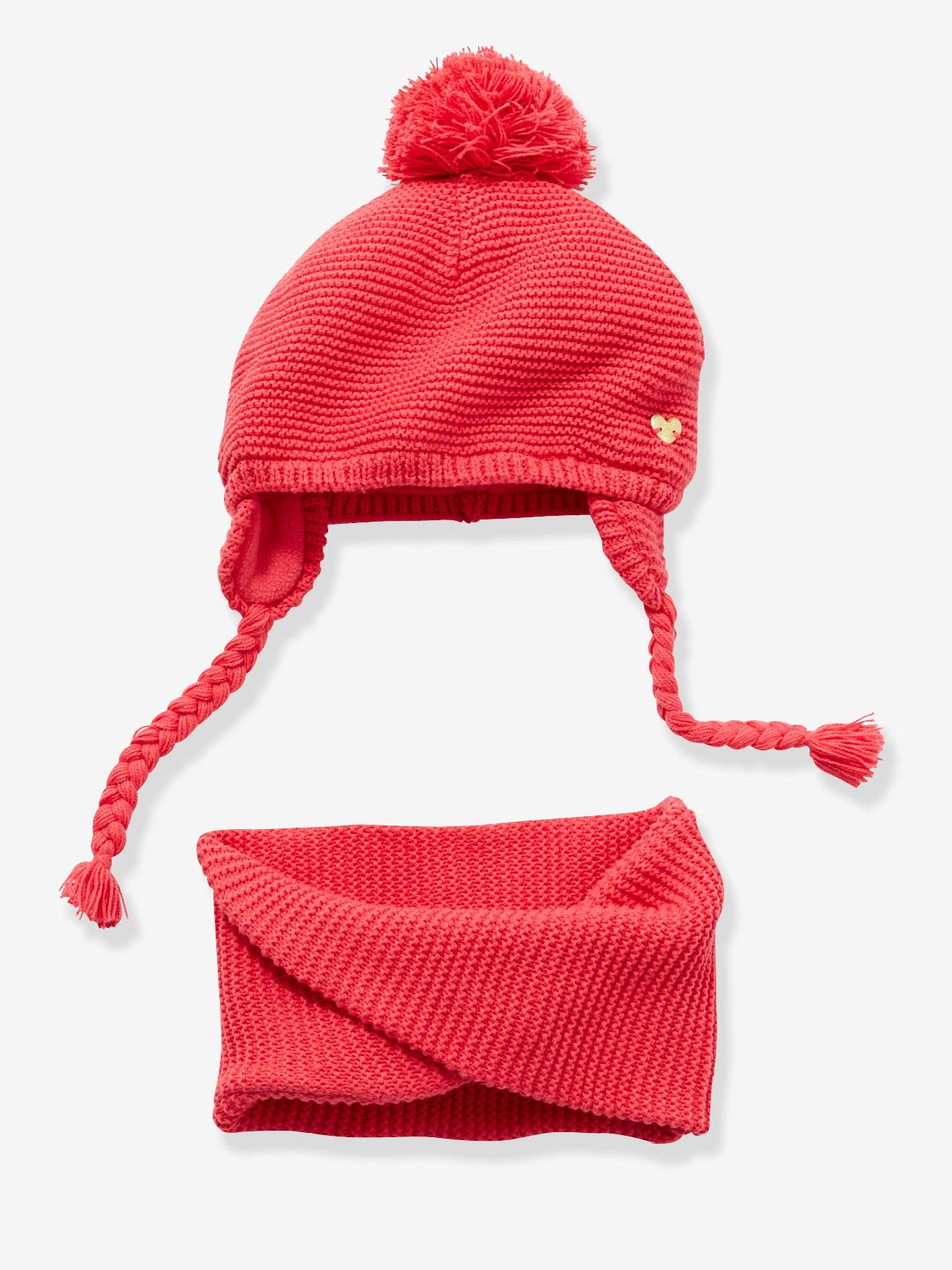 0f50b612375 Baby Girls Chapka   Snood Set - red light solid …