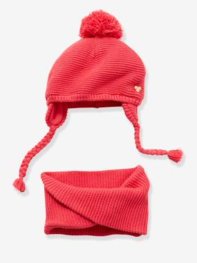 Megashop-Baby-Baby Girls Chapka & Snood Set