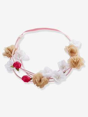 Girls-Accessories-Double Hairband with Flowers