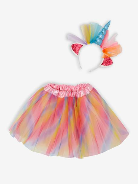 Gift Box with Rainbow Unicorn Costume, for Girls PINK MEDIUM 2 COLOR/MULTICOL - vertbaudet enfant