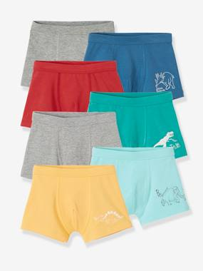 Collection Vertbaudet-Garçon-Lot de 7 boxers stretch garçon Dinos
