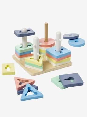 Toys-Baby's First Toys-Game with Stackable Shapes