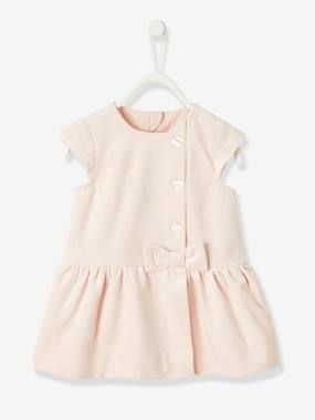 Vertbaudet Collection-Baby-Dresses & Skirts-Velour Special Occasion Dress, for Baby Girls