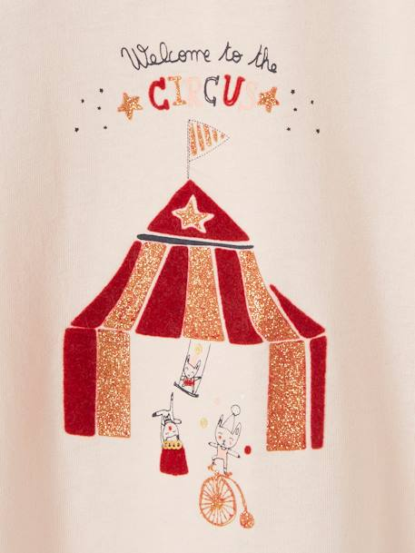 T-shirt bébé fille welcome to the circus nude - vertbaudet enfant