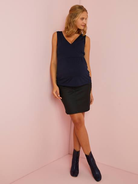 Maternity T-shirt BLUE DARK SOLID+PINK DARK SOLID - vertbaudet enfant