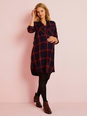 Vertbaudet Collection-Maternity-Dresses-Maternity Shirt Dress