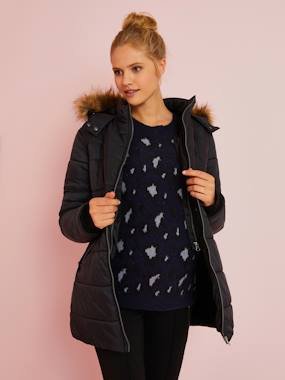 Vertbaudet Collection-Maternity-3-in-1 Adaptable Maternity & Post-Maternity Padded Jacket