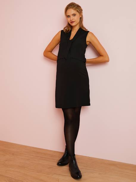 Sleeveless Dress for Maternity BLACK DARK SOLID - vertbaudet enfant