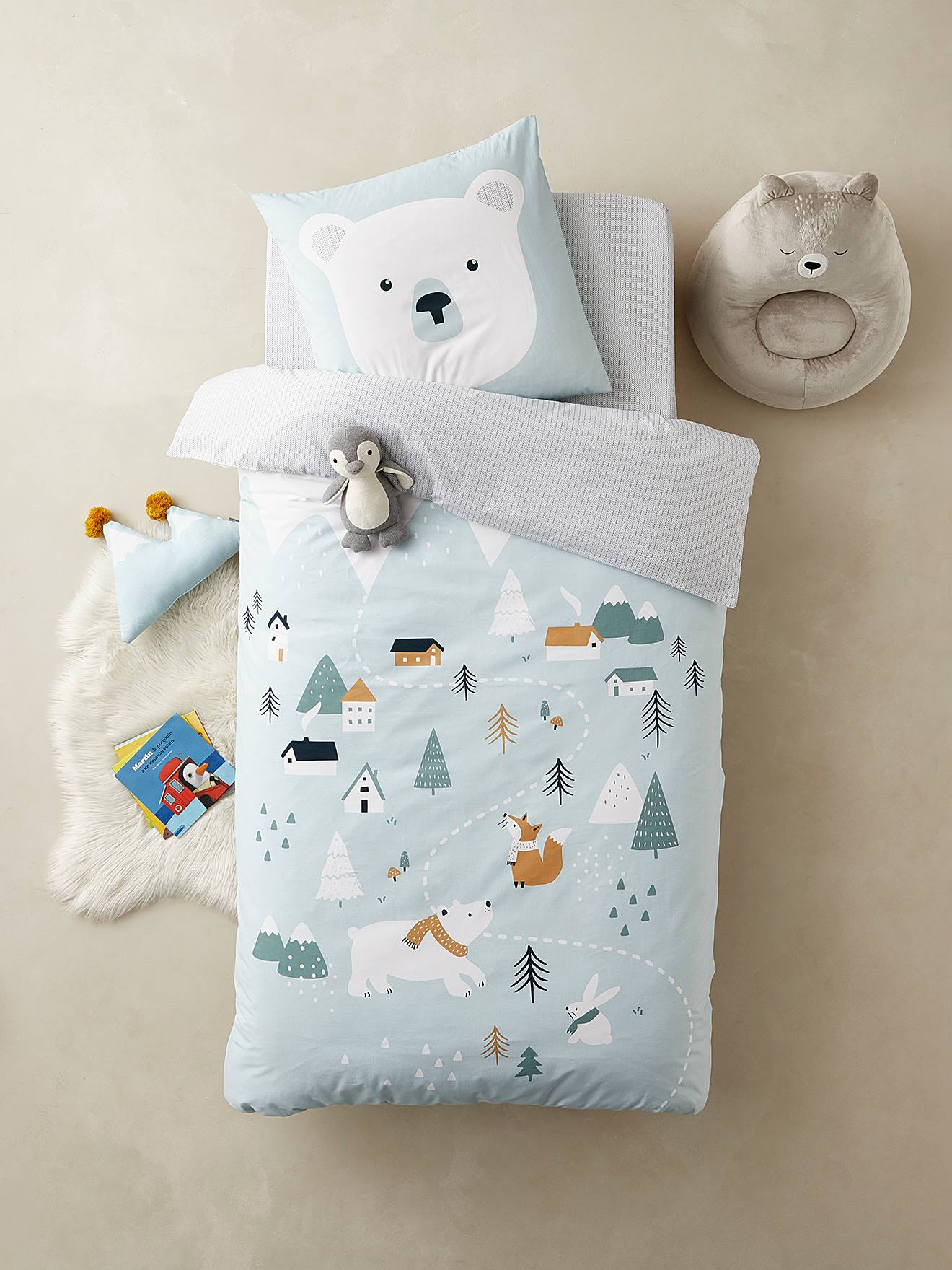 New Design Owls Duvet Cover Reversible Bedding Set With Pillow Cases