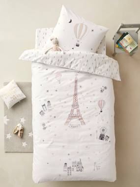 Bedding & Decor-Child's Bedding-Duvet Cover + Pillowcase Set, PARIS FEERIE
