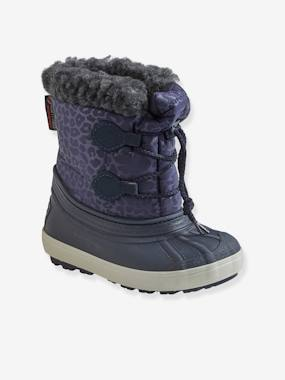 Shoes-Girls Footwear-Furry Snow Boots with Laces for Girls