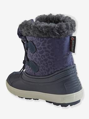 Vertbaudet Collection-Furry Snow Boots with Laces for Girls