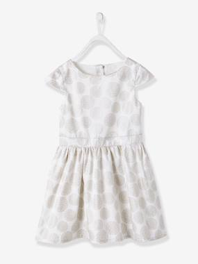 Vertbaudet Collection-Girls-Girls' Polka Dot Occasion Dress