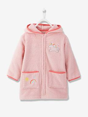 Vertbaudet Collection-Girls-Bathrobes & Dressing Gowns-Zipped Dressing Gown, for Children, Unicorn
