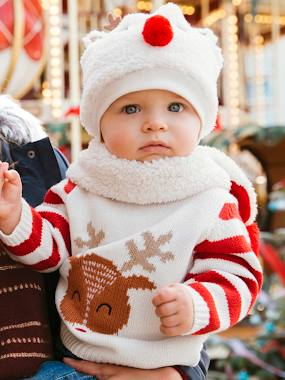 Christmas collection-Baby-Jumpers, Cardigans & Sweaters-Christmas Special Jumper, Reindeer Motif, for Baby Boys