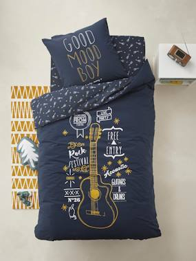 Bedding & Decor-Child's Bedding-Children's Duvet Cover + Pillowcase Set, ROCK STAR