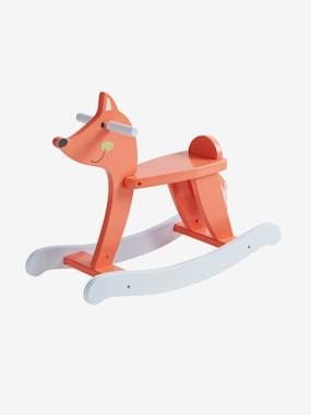 Christmas toys-Wooden Fox Rocker
