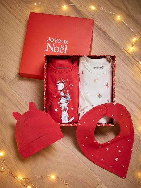 Christmas Box for Babies, 4 Items, OULANKA RED DARK 2 COLOR/MULTICOLOR - vertbaudet enfant
