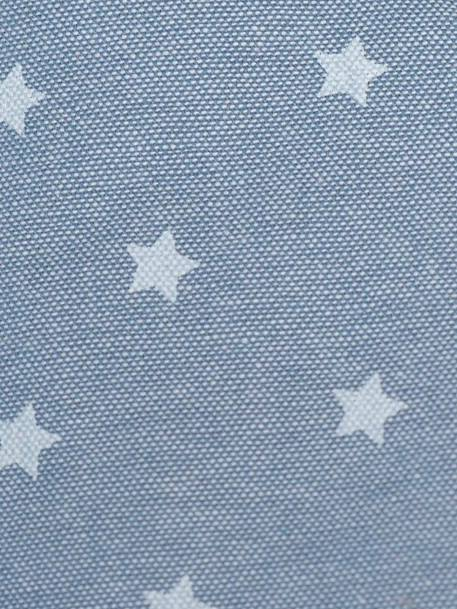 VERTBAUDET Reversible Pushchair Seat Protector GREY LIGHT ALL OVER PRINTED+Grey/white striped+MEDIUM BLUE MARL - vertbaudet enfant