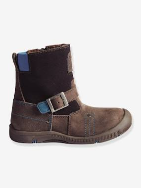 Vertbaudet Sale-Shoes-Boys Footwear-Boys' Fur-Lined Boots, Designed for Autonomy