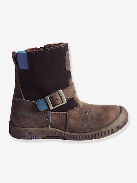 ec448ca99d2 Boys' Fur-Lined Boots, Designed for Autonomy - brown dark solid, Shoes
