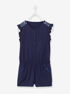 Girls-Dungarees & Playsuits-Girls' Playsuit with Sequins