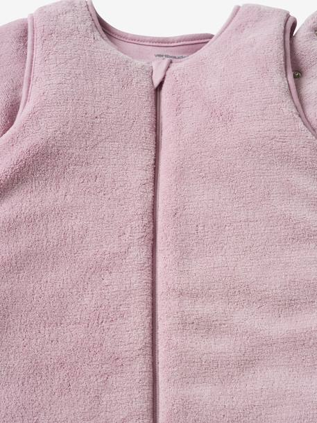 Microfibre Sleep Bag With Detachable Long Sleeve, For Strolling Ecru+Taupe+Violet - vertbaudet enfant