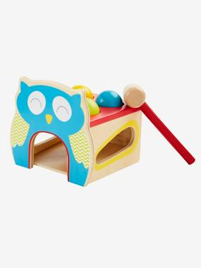 Vertbaudet Sale-Toys-Wooden Knock-out Owl Game