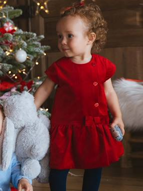 Christmas collection-Baby-Velour Special Occasion Dress, for Baby Girls