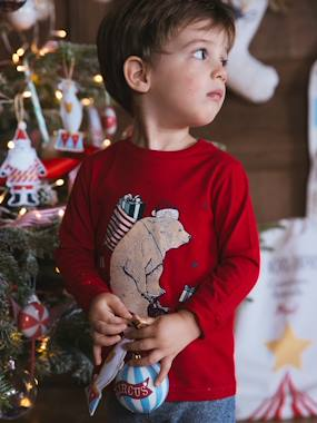 Christmas collection-Boys-Long-Sleeved Top with Bear Motif, for Boys