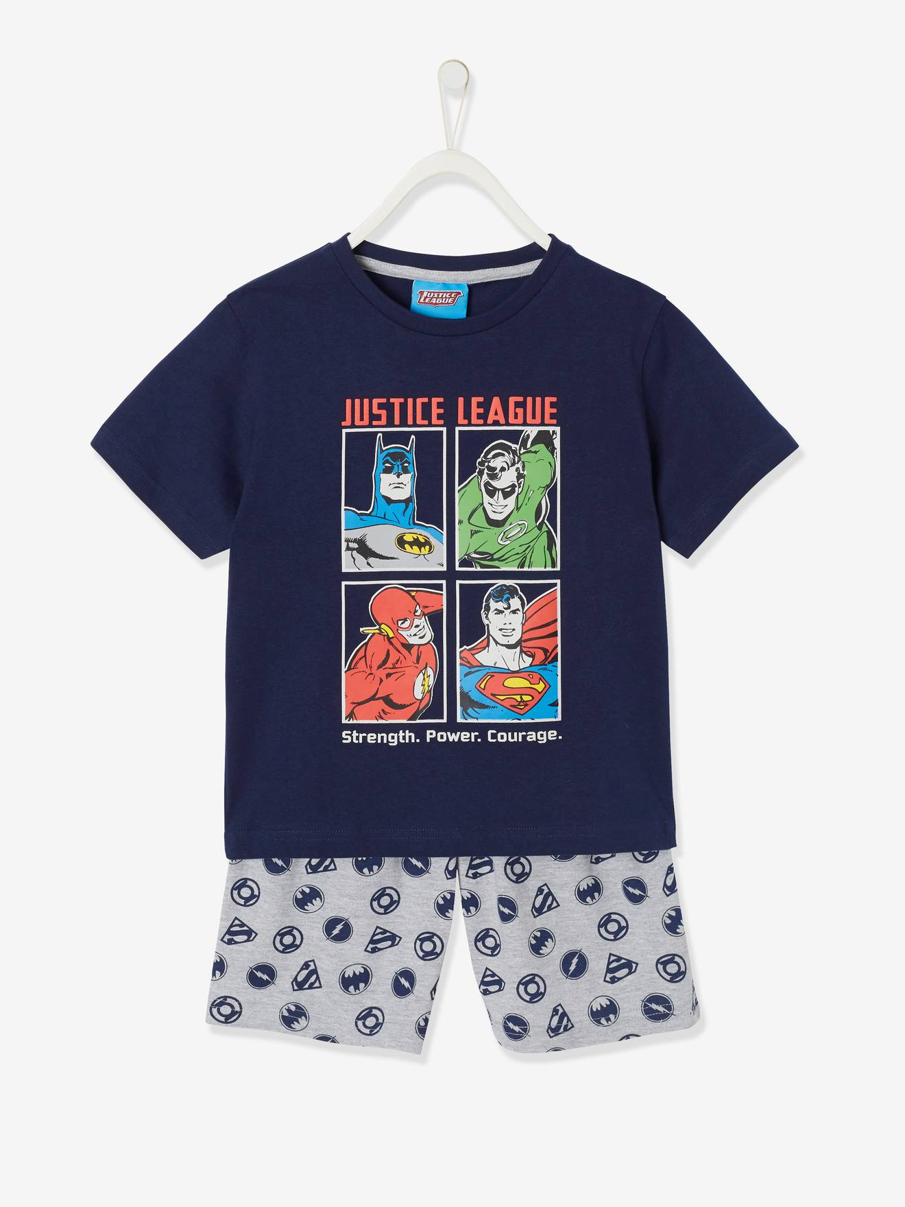 superman nursery decor.htm two tone short pyjamas  justice league   blue dark solid with  two tone short pyjamas  justice league