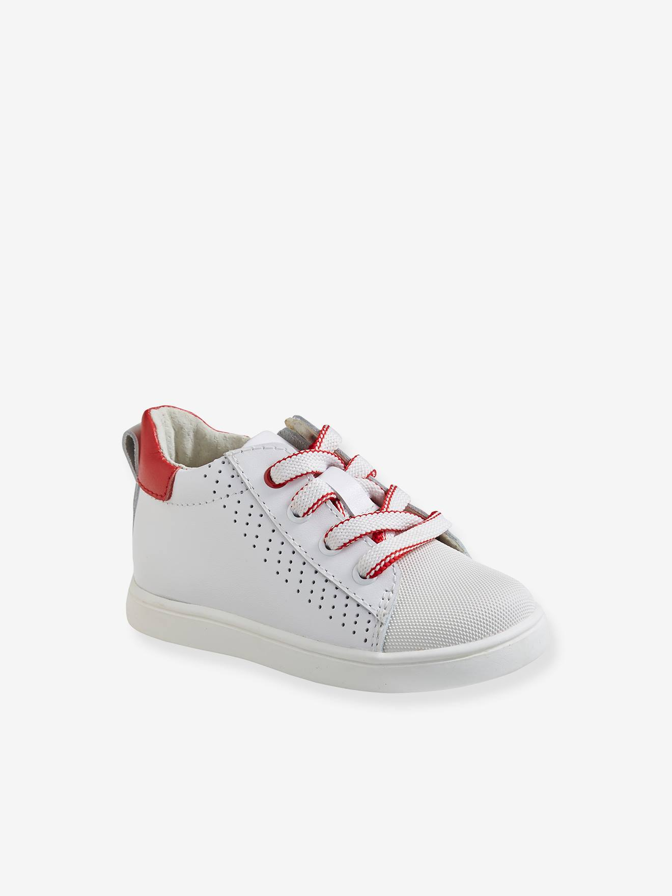 Leather Trainers, for Baby Boys - white