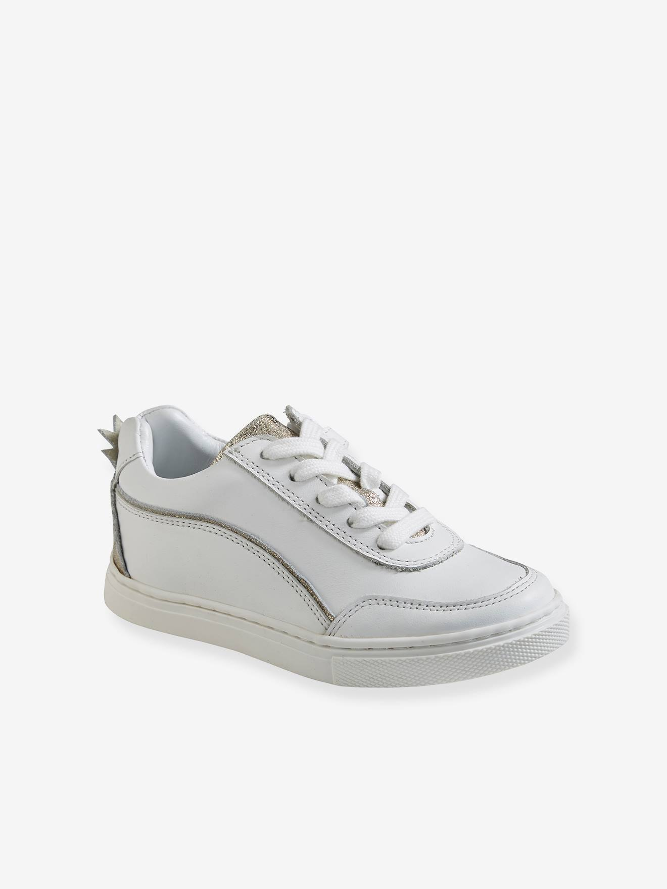 Leather Trainers, with Pineapple, for