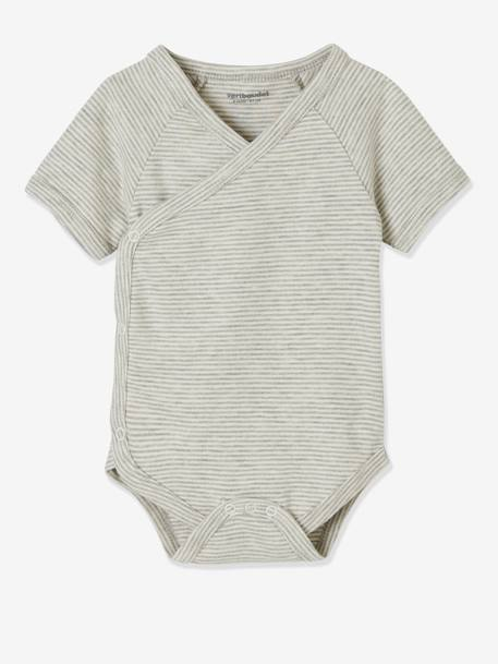 BODY SUIT GREY LIGHT TWO COLOR/MULTICOL - vertbaudet enfant