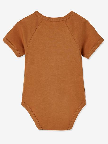 BODY SUIT BROWN MEDIUM 2 COLOR/MULTICOL+PINK MEDIUM 2 COLOR/MULTICOL - vertbaudet enfant