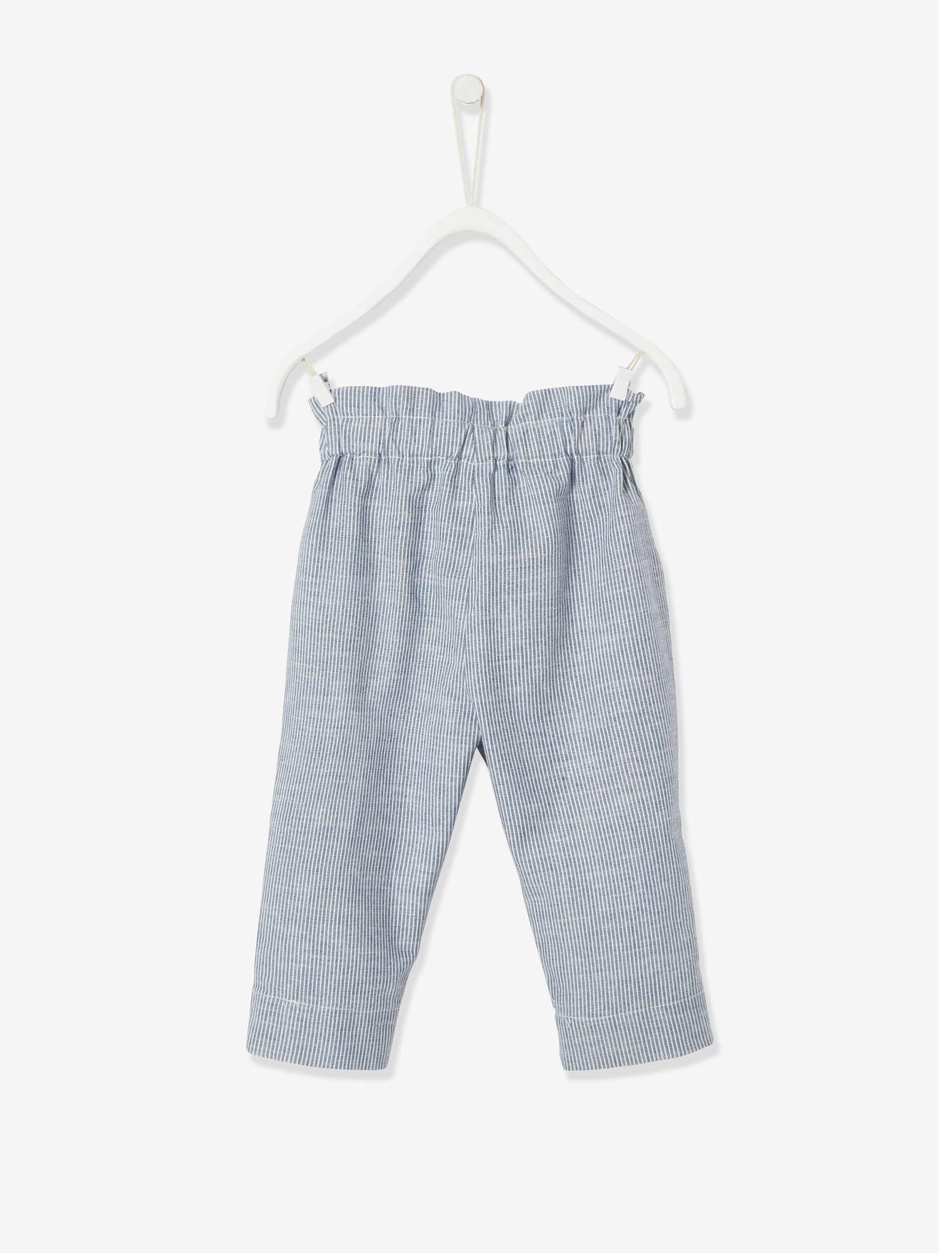 Vertbaudet Pantalon b/éb/é Fille Taille /élastiqu/ée