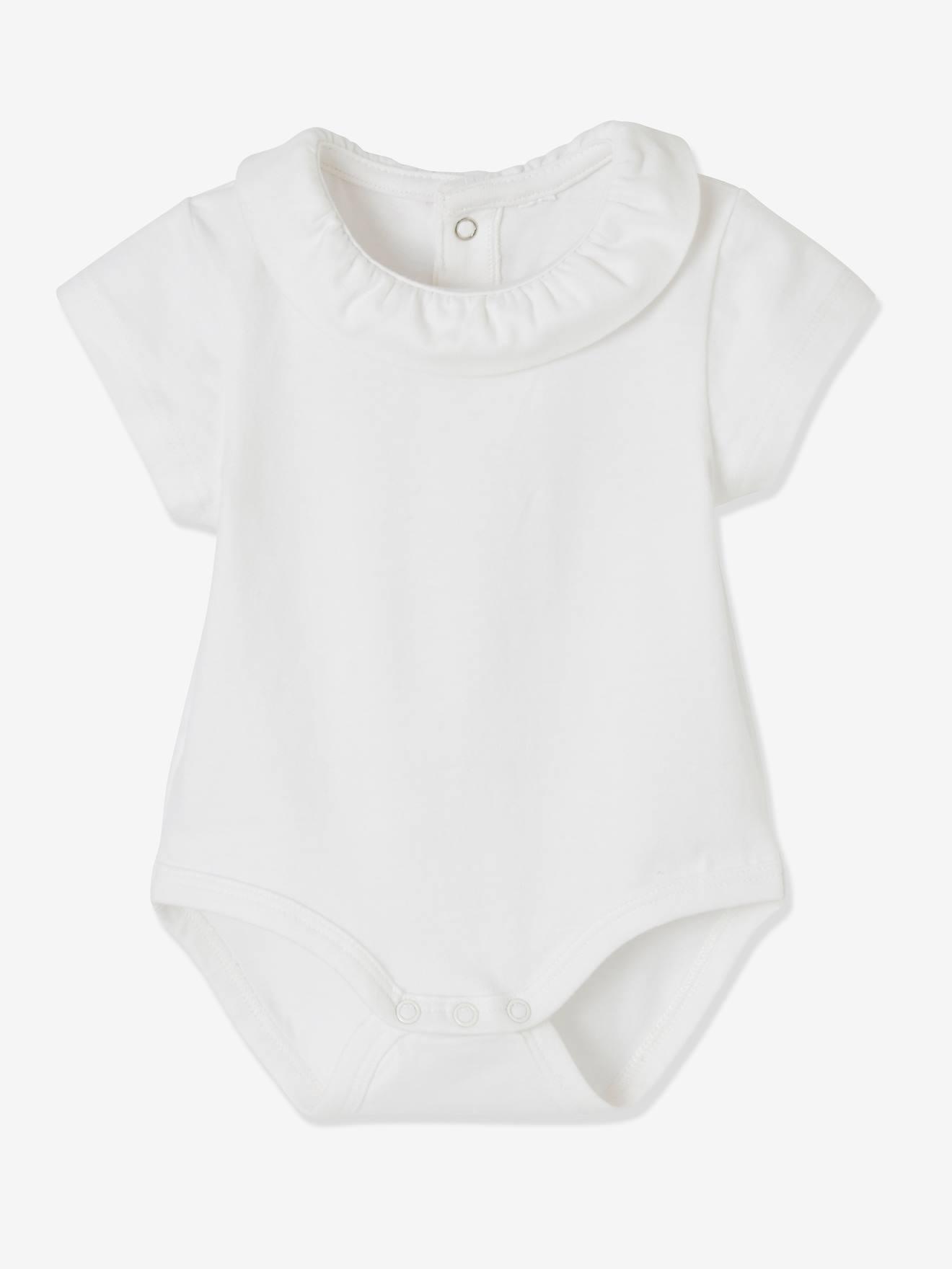 Vertbaudet Baby Girls Bodysuit white white 1M 54CM