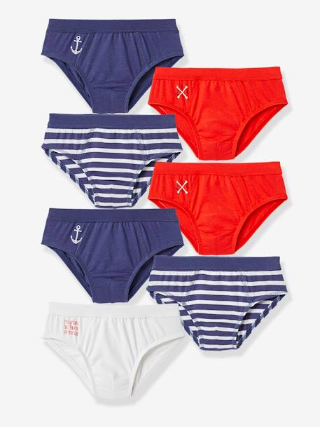 Pack of 7 Boys Briefs Assorted - vertbaudet enfant